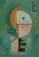 Upward Cross Stitch Pattern - Wassily Kandinsky