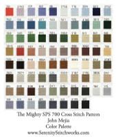 The Mighty SPS 700 Cross Stitch Chart - John Mejia