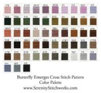 Butterfly Emerges Cross Stitch Pattern