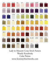 Lady in Moscow Cross Stitch Pattern - Wassily Kandinsky