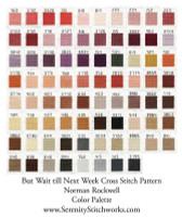 But Wait til Next Week Cross Stitch Pattern -  Norman Rockwell