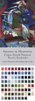 Amazon in Mountains Cross Stitch Pattern - Wassily Kandinsky