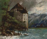 Château de Chillon Cross Stitch Chart - Gustave Courbet