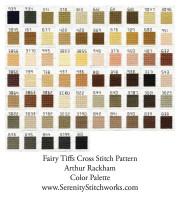Fairy Tiffs Cross Stitch Pattern - Arthur Rackham