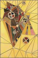 In the Network Cross Stitch Pattern - Wassily Kandinsky