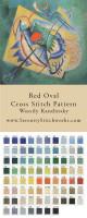 Red Oval Cross Stitch Pattern - Wassily Kandinsky