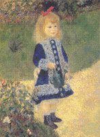 A Girl with a Watering Can Cross Stitch Chart - Pierre-Auguste Renoir