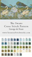 The Swans Cross Stitch Pattern - George de Feure