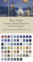 Blue Night Cross Stitch Pattern - Edward Hopper
