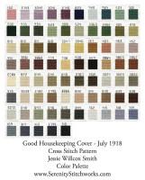 Good Housekeeping Cover - July 1918 Cross Stitch Pattern - Jessie Willcox Smith