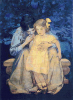 Mother and Child Cross Stitch Chart - Jessie Willcox Smith