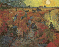 The Red Vineyard at Arles Cross Stitch Pattern - Vincent van Gogh