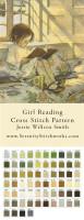 Girl Reading Cross Stitch Pattern - Jessie Willcox Smith