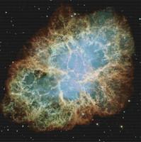 Crab Nebula Cross Stitch Pattern