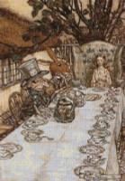 A Mad Tea Party Cross Stitch Pattern - Arthur Rackham
