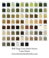 Bull Dogs - Cross Stitch Chart