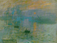 Impression, Sunrise Cross Stitch Chart - Claude Monet