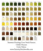 Summer Evening Cross Stitch Pattern - Childe Hassam