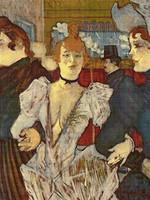 La Goulue Arriving at the Moulin Rouge Cross Stitch Pattern - Henri de Toulouse-Lautrec