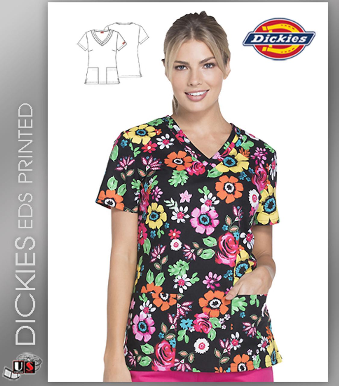 Dickies EDS Print Top Flower Festival DK708 FWFS