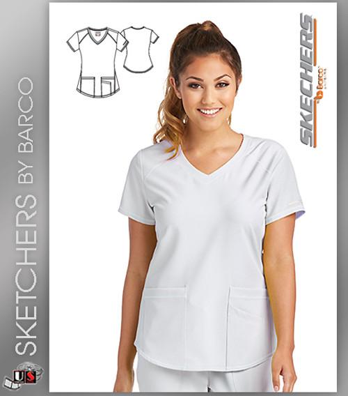 1aeebc672ec Sketchers Scrubs Vitality Scrub Top - Dental Supplies,Inc