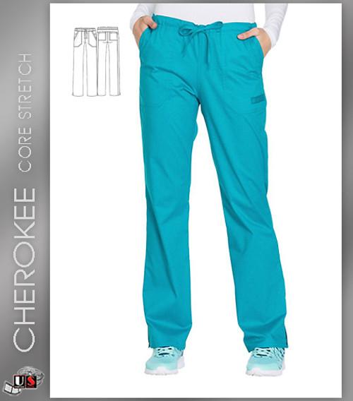 67da32b2a00 Cherokee. Cherokee Core Stretch Workwear Women's Drawstring Cargo Scrub Pant
