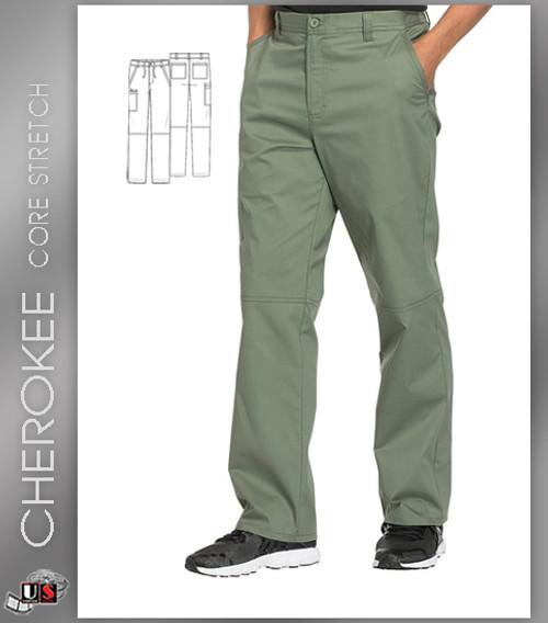 db1979c0ed4 Cherokee Core Stretch Workwear Men's Zip Fly Tapered Scrub Pant ...