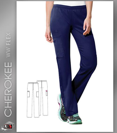 6331b88c2b9 Cherokee WW Flex Workwear Women's Mid-Rise Straight Leg Scrub Pants ...