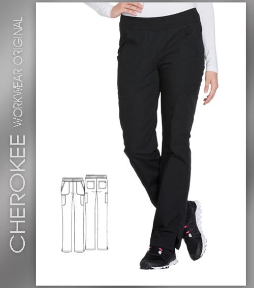 0222f7c7378 Cherokee Workwear Originals Women's Straight Leg Pull-On Scrub Pant ...