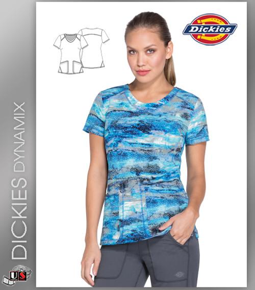 debaa5fa13a Dickies Dynamix Women's V-Neck Galactic Granite Print Scrub Top ...