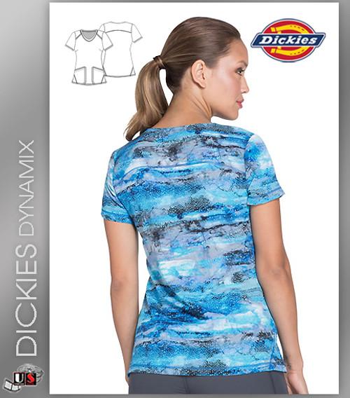 061d0c02054 ... Dickies Dynamix Women's V-Neck Galactic Granite Print Scrub Top