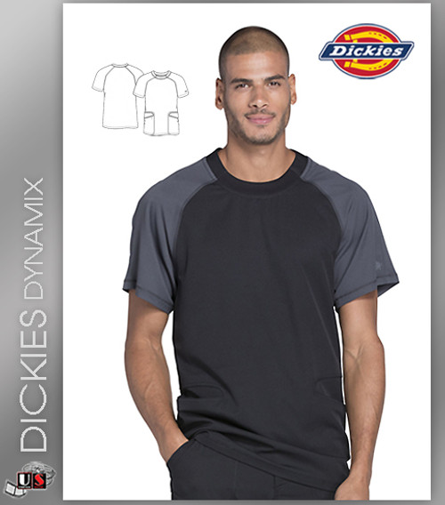 ee7229ea5fb Dickies Dynamix Men's Crew Neck Scrub Top - Dental Supplies,Inc