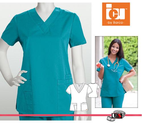 892d545c112 ICU Barco Scrubs 4 Pocket Detail V-Neck - Dental Supplies,Inc