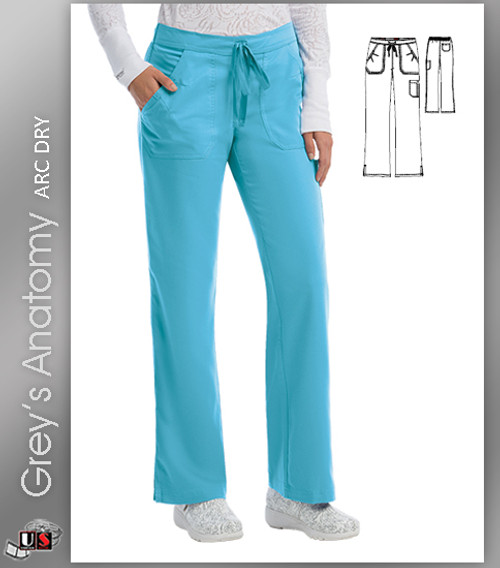 1f4f4fbb962 Grey's Anatomy™ Arc Dry Women's 4-Pocket Elastic Back Solid Scrub Pant