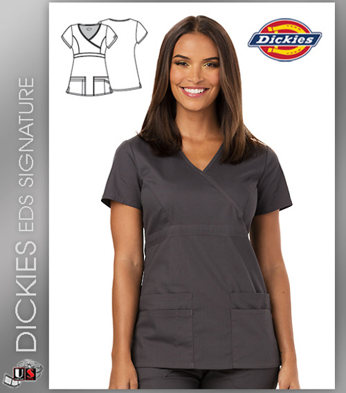 eed794e2b0e Dickies EDS Signature Solid Mock Wrap Top - Dental Supplies,Inc