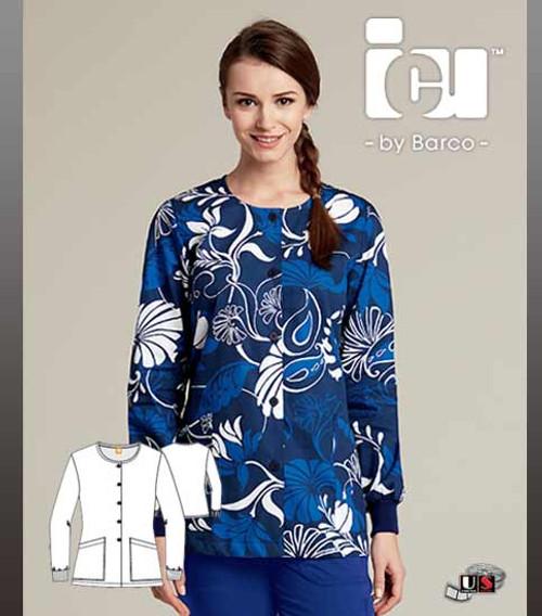 694dd95e54a ICU By Barco Uniforms Nathalie Women's 2 Pocket Warm Up Jacket ...