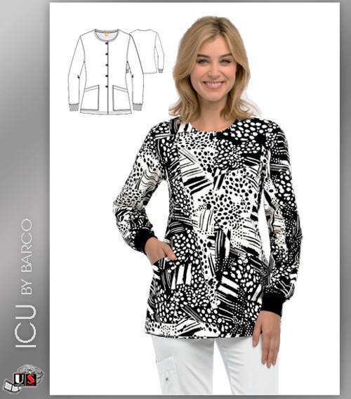 59289d450ac ICU By Barco Uniforms Pebble Beach Women's 2 Pocket Warm Up Jacket ...