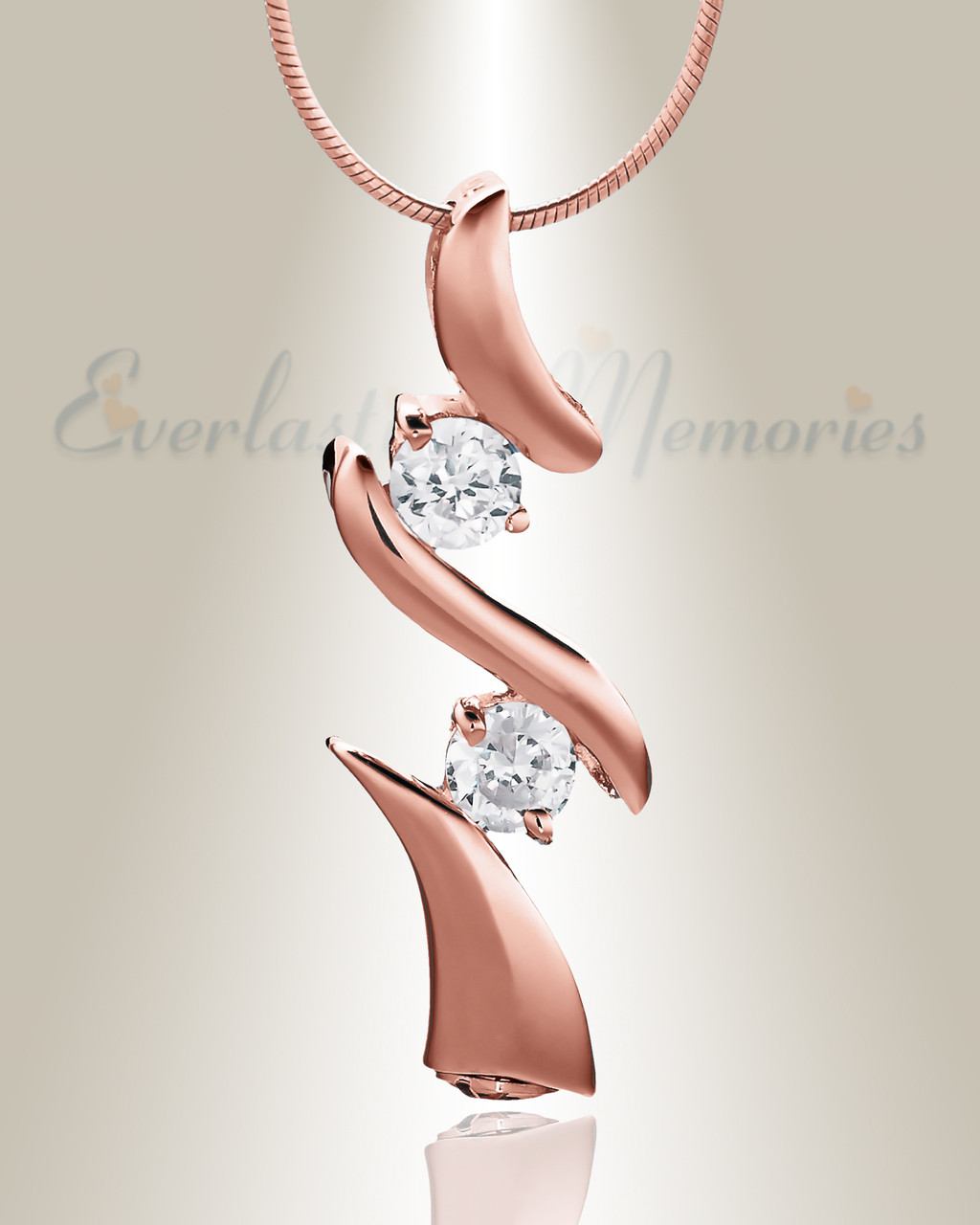 cremation jewelry rose gold