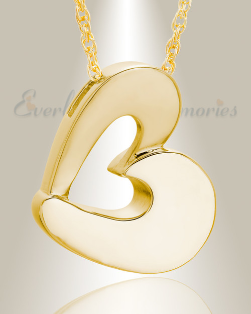 Cremation Pendant 14k Yellow Gold 6mm Opal Cremation Ash Pendant with Initial 6mm7 Pet Loss Cremation Jewelry Ash Necklace