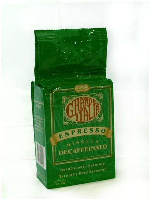 Grande Italia decaffeinated espresso grind 10oz.
