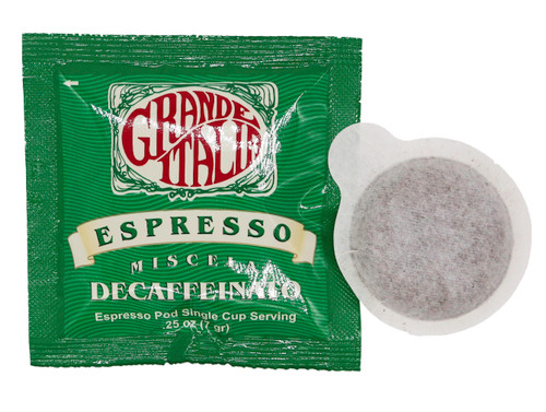 grande italia decaffeinated ese espresso pods 120ct