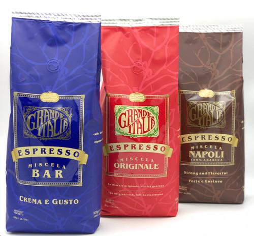 Grande Italia Espresso Beans Bundle 6 lbs.