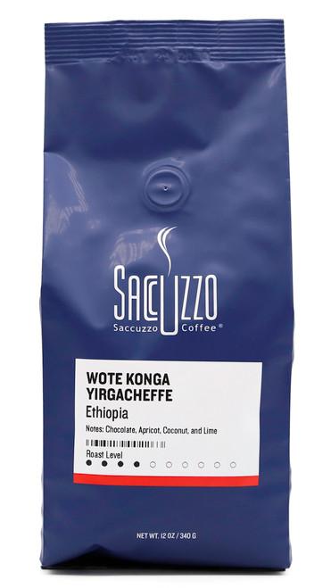 Saccuzzo Coffee Ethiopia Yirgacheffe Wote Kong Washed 12oz bag