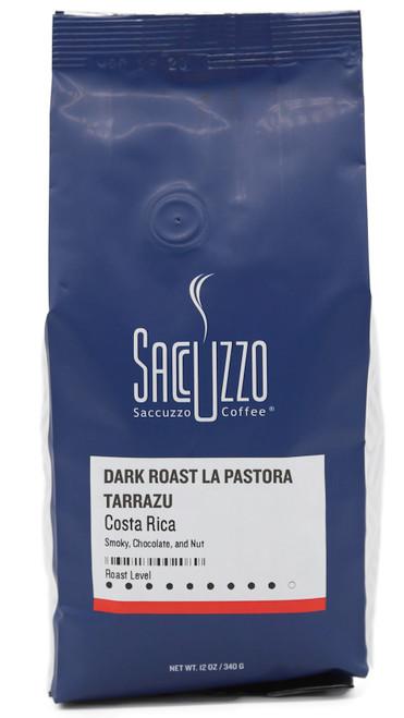 Saccuzzo Coffee Dark Roast Costa Rica La Pastora Tarrazu 12oz bag
