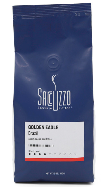 Saccuzzo Coffee Brazil Golden Eagle 12oz bag