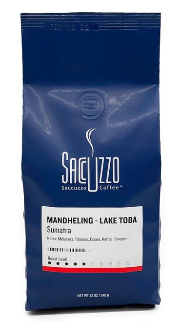 Saccuzzo Coffee Sumatra Mandheling Lake Toba 12oz bag