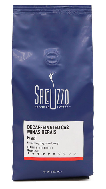 Saccuzzo Coffee Decaffeinated Brazil Co2 Process 12oz bag