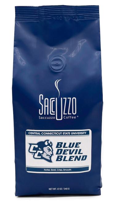 Saccuzzo Coffee Blue Devils Blend 12oz bag, Central Connecticut University CCSU