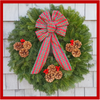 "30"" Fresh Maine Balsam Wreath, Tartan Bow"