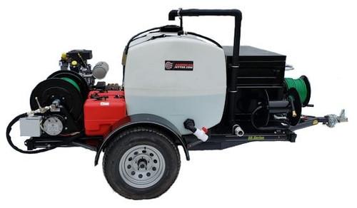 58 Series Trailer Jetter 1530 - 38 HP EFI, 15 GPM, 3000 PSI 200 Gallon